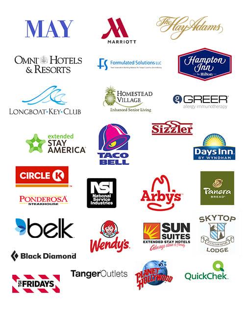 Company logos for cost segregation portfolio