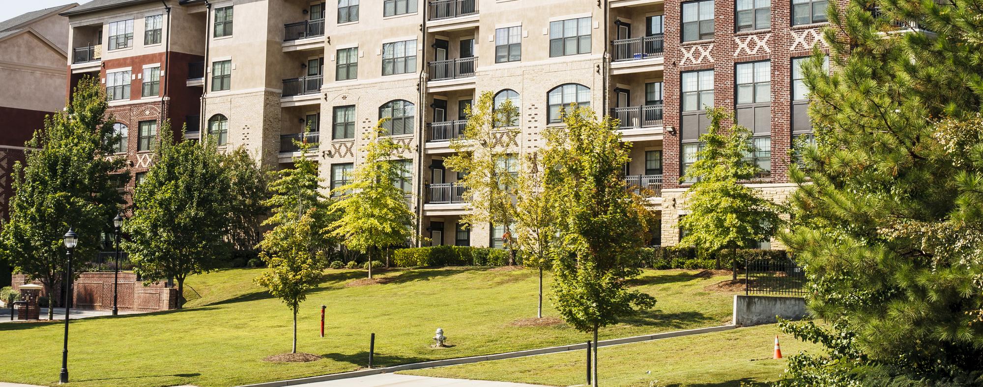 Garden style apartment complex